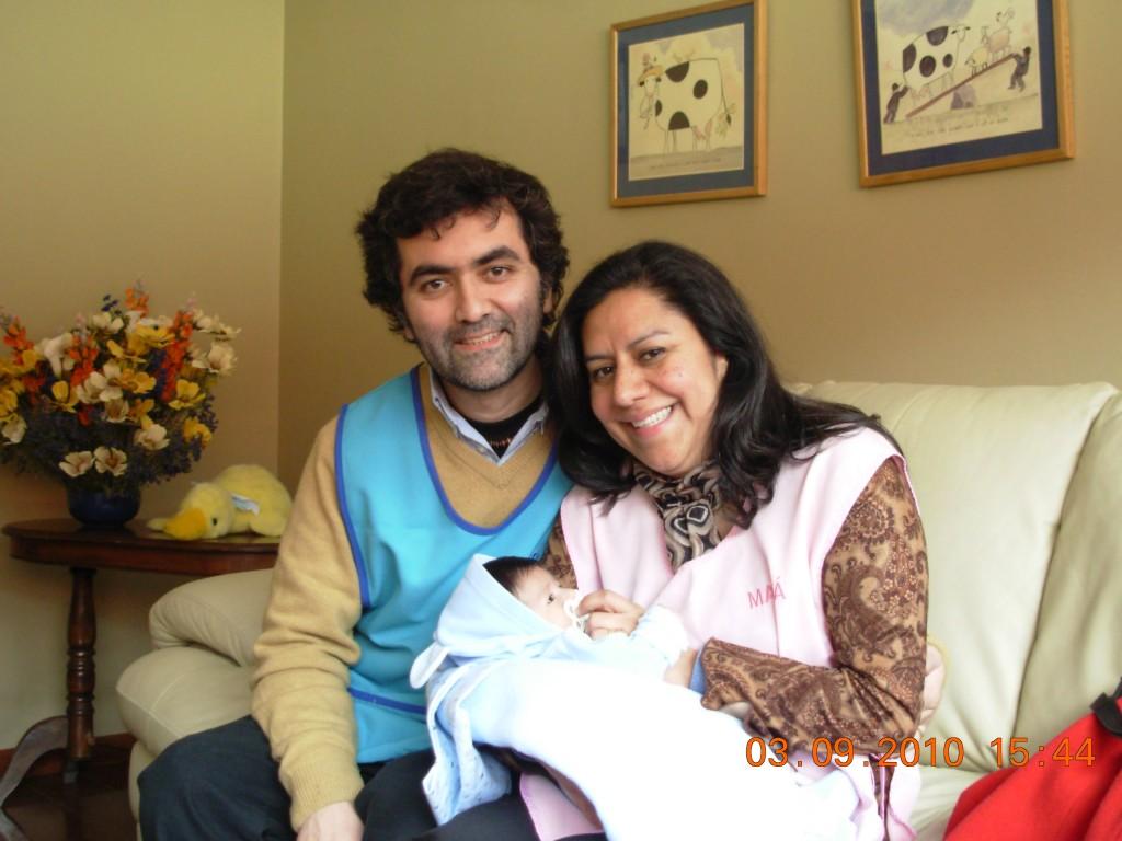 Nuestra primera foto de los tres juntos.